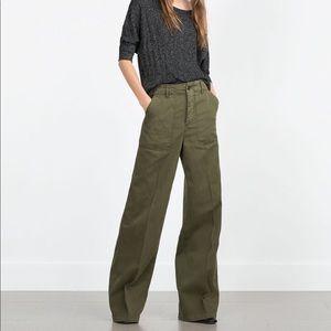 Zara wide legged denim trousers